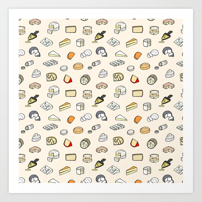 Cheese pattern Kunstdrucke