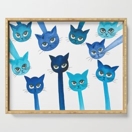 Cheyenne Whimsical Cats Serving Tray