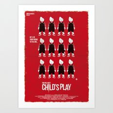 CHILD'S PLAY - RED COLLECTION Art Print