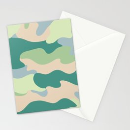 Pastel camouflage pattern design  Stationery Cards