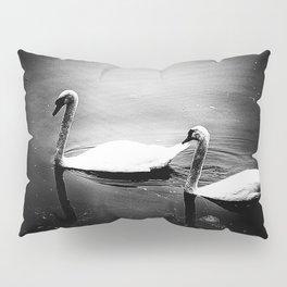 Two swans on lake Huron Pillow Sham