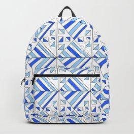 Symetric triangle 11 -vichy, gingham,strip,triangle,geometric, sober,tartan,mandala Backpack