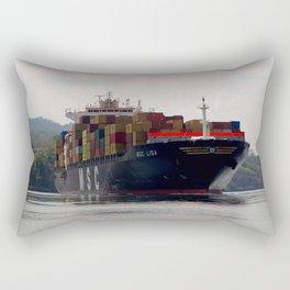 Cargo ship on the Panama Canal Rectangular Pillow
