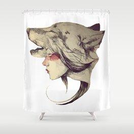 She Wolf Shower Curtain