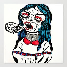 scared man Canvas Print