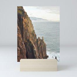 Lower Neahkahnie Mountain Ocean Spires, Oregon Coast Landscape Mini Art Print