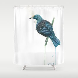 The Parson Bird aka Tui Shower Curtain