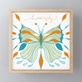Butterfly Fly Away Framed Mini Art Print