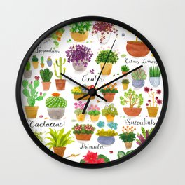 Here are some Pot Plants! Wall Clock