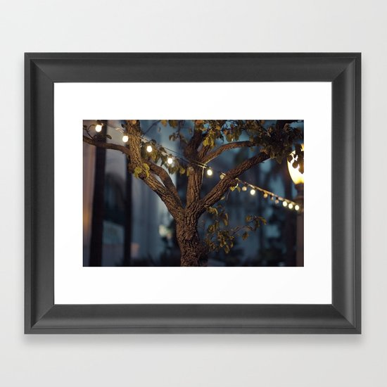 Isn't it a lovely night? Framed Art Print