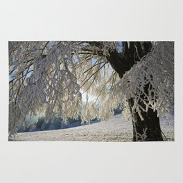 Frost Covered Tree Rug