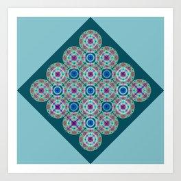 Prelude to Metatron (Turquoise) Art Print