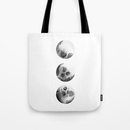 Moon Phases, Black and White Moon, Space, watercolor, Moon Print, Moon Painting Tote Bag