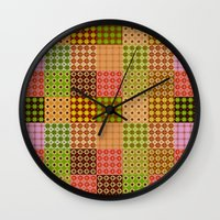 quilt Wall Clocks featuring quilt by Isabella Asratyan
