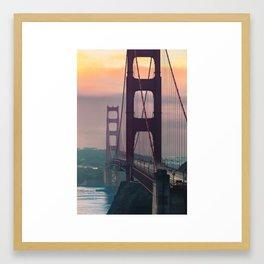 Golden Gate at Golden Hour Framed Art Print