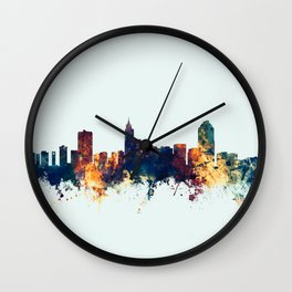 Raleigh North Carolina Skyline Wall Clock