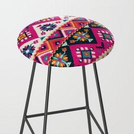 N59 - Anthropologie Oriental Traditional Pink Moroccan Style Artwork. Bar Stool