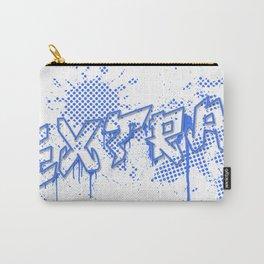 extra splash blue grafitti design Carry-All Pouch