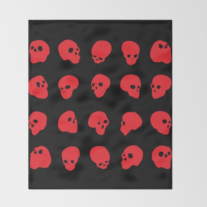 redhead - red on black Throw Blanket