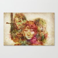 the lord of the rings Canvas Prints featuring The Lord of the Rings by Miriam Soriano