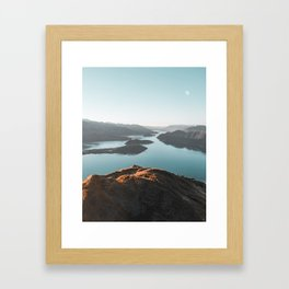 Roys Peak New Zealand Framed Art Print