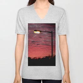 British Winter Sunset Unisex V-Neck