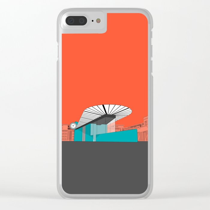 Turquoise Island Clear iPhone Case