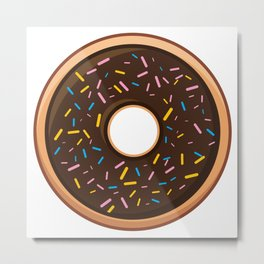 Delicious Chocolate Sprinkles Doughnut / Donut Metal Print