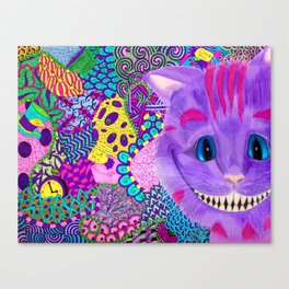 A Cheshire Zentangle Canvas Print