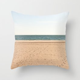 Sand, sea, sky Throw Pillow