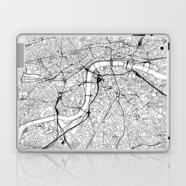 London White Map Laptop & iPad Skin