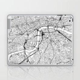 London White Map Laptop & iPad Skin