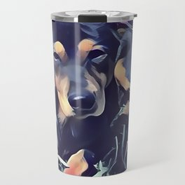 Black and Tan Coonhound Puppy Travel Mug