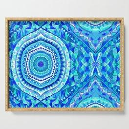 Blue Lemon Drops - Aqua, Royal Blue, & Teal Serving Tray