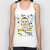 brasil Tank Tops featuring FIFA - BRASIL  by 13pulsions
