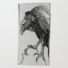 Vulture Study no.3 Beach Towel