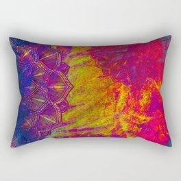 Mandala Colur Burst Rectangular Pillow