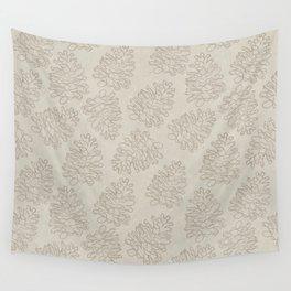 Minimal Pinecones Wall Tapestry