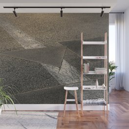 concrete sunshine triangle arrow Wall Mural