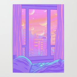 Shinjuku Summer View Poster