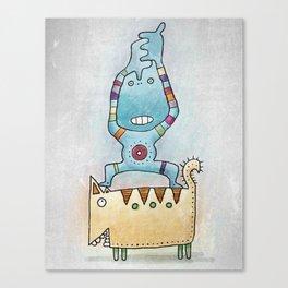 Dancing on Fat Cat Canvas Print