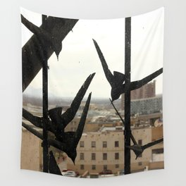 Birds of the City Wall Tapestry