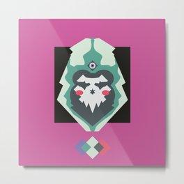 SkullHood Metal Print