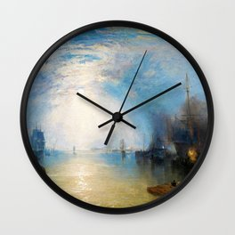 Keelmen Heaving in Coals by Moonlight - Joseph Mallord William Turner Wall Clock