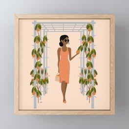 orange trees Framed Mini Art Print