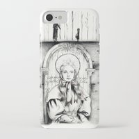 les miserables iPhone & iPod Cases featuring Les Miserables Portrait Series - Cosette by Flávia Marques