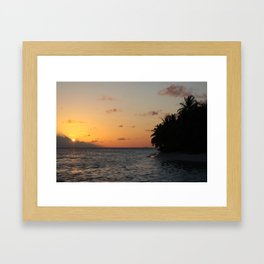 Maldivian Sunset, Vilamendhoo, Maldives Framed Art Print