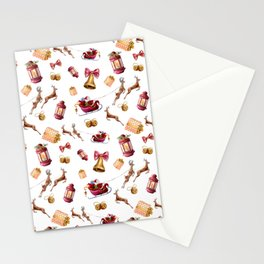Santa Claus and gifts Stationery Cards