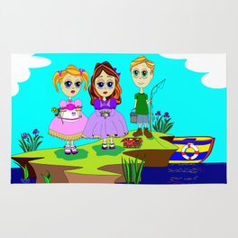 The Picnic by the Sea, Nautical Rug
