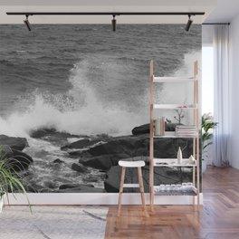 Waves and Rocks Wall Mural